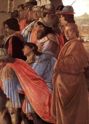 Sandro Botticelli (Alessandro Filipepi) - The Adoration of the Magi (detail 2) c. 1475