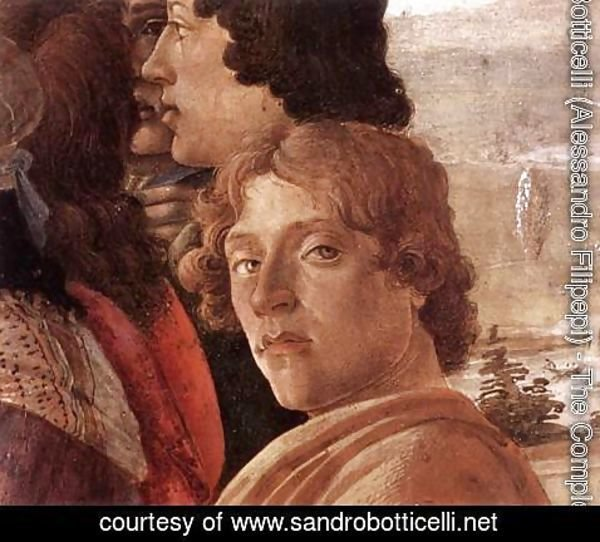 Sandro Botticelli (Alessandro Filipepi) - The Adoration of the Magi (detail 3) c. 1475