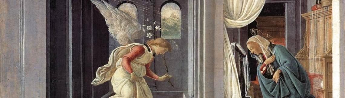 Sandro Botticelli (Alessandro Filipepi) - The Annunciation c. 1485