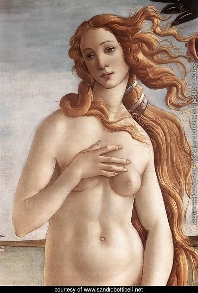 The Birth of Venus (detail 2) c. 1485