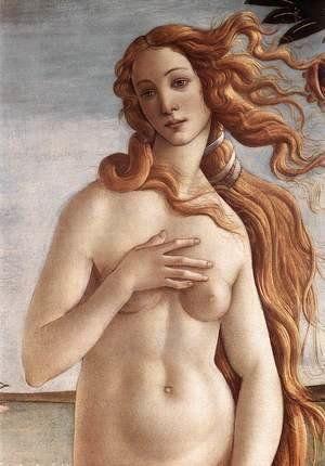 Sandro Botticelli (Alessandro Filipepi) - The Birth of Venus (detail 2) c. 1485