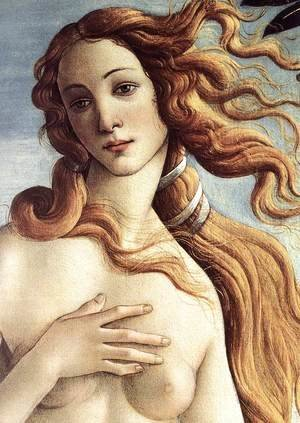 Sandro Botticelli (Alessandro Filipepi) - The Birth of Venus (detail 3) c. 1485