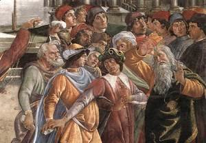 Sandro Botticelli (Alessandro Filipepi) - The Punishment of Korah and the Stoning of Moses and Aaron (detail 5) 1481-82