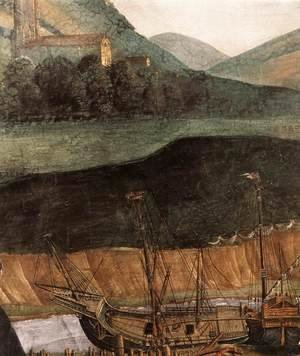 Sandro Botticelli (Alessandro Filipepi) - The Punishment of Korah and the Stoning of Moses and Aaron (detail 6) 1481-82