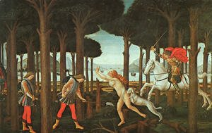 Sandro Botticelli (Alessandro Filipepi) - The Story of Nastagio degli Onesti (first episode)  c. 1483