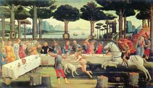 Sandro Botticelli (Alessandro Filipepi) - The Story of Nastagio degli Onesti (third episode) c. 1483