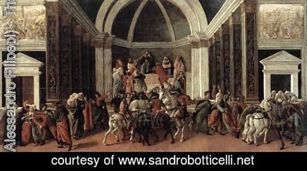 Sandro Botticelli (Alessandro Filipepi) - The Story of Virginia 1496-1504