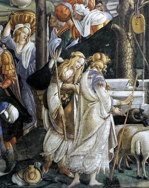 The Trials and Calling of Moses (detail 1) 1481-82