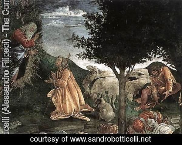 Sandro Botticelli (Alessandro Filipepi) - The Trials and Calling of Moses (detail 3) 1481-82