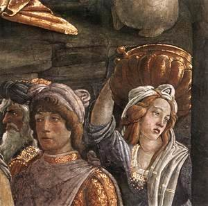 Sandro Botticelli (Alessandro Filipepi) - The Trials and Calling of Moses (detail 5) 1481-82