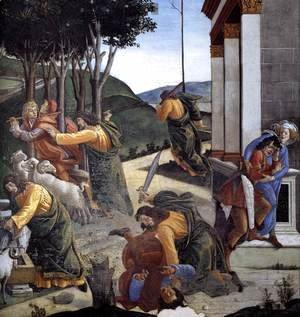 The Trials and Calling of Moses (detail 7) 1481-82