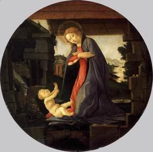 Sandro Botticelli (Alessandro Filipepi) - The Virgin Adoring the Child c. 1490