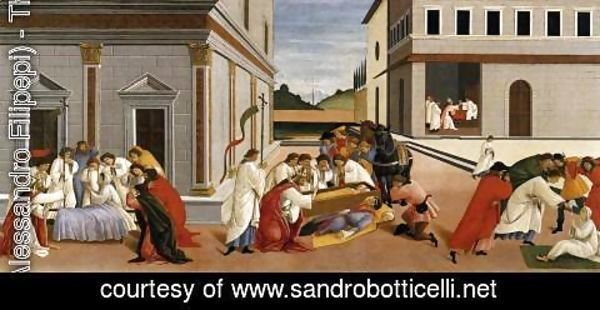 Sandro Botticelli (Alessandro Filipepi) - Three Miracles of St Zenobius 1500-05