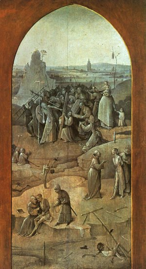 "Christ Carrying the Cross (outer-right wing of the triptych ""The Temptation of St. Anthony"")"