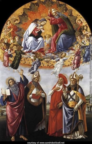 Coronation of the Virgin with St. John the Evangelist, St. Augustine, St. Jerome, and St. Eligio
